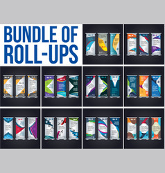 bundel of roll up design vector image