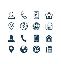 business card related icon set in glyph and vector image