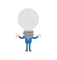 businessman with gray light bulb head vector image