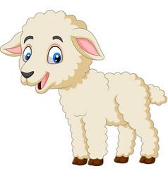 cartoon happy lamb isolated on white background vector image
