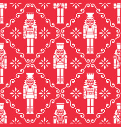 Christmas nutcrackers seamless pattern vector