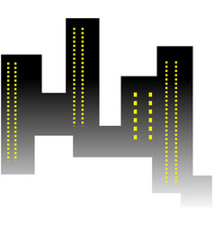city skyscrapers buildings urban vector image
