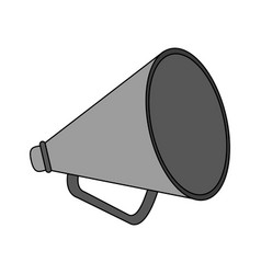 Color image cartoon megaphone flat icon vector