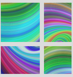 Colorful curved digital page background set vector image