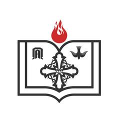 Cross jesus and symbols eternity vector