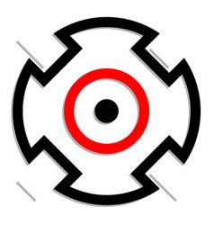 Crosshair target mark icon symbol accuracy focus vector