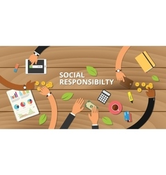 Customer business social responsibility concept vector