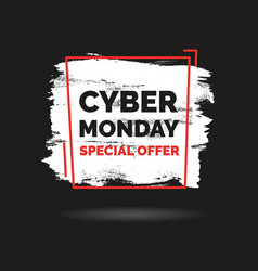 cyber monday banner sale concept vector image