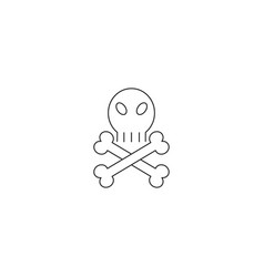 death linear icon vector image