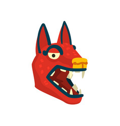 dog head maya civilization symbol american vector image