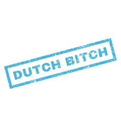 Dutch bitch rubber stamp vector