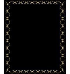 Elegant gold frame 1 vector image