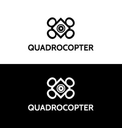 Emblem sign for quadrocopter vector