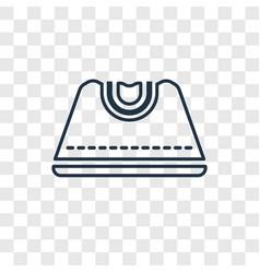 female black handbag concept linear icon isolated vector image