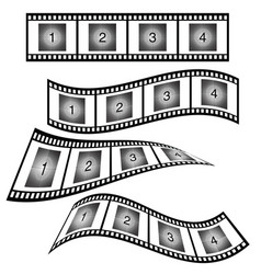 Film strip with number vector