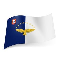 Flag azores vector