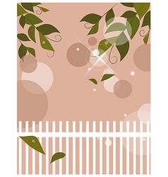 Garden Fence Background vector image