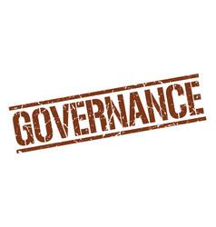 governance stamp vector image
