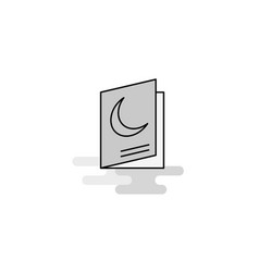 halloween card web icon flat line filled gray icon vector image