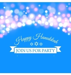 Happy Hanukkah greeting card with hand-drawn vector