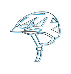 helmet bike outline vector image