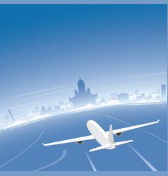 Helsinki skyline flight destination vector