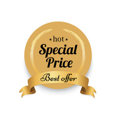 Hot special price golden label best offer proposal vector