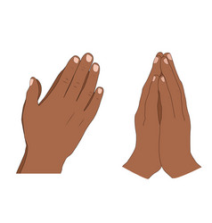 human hands folded in prayer vector image