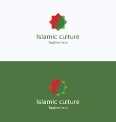 Islamic culture star overprint logo vector