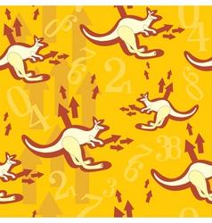 kangaroo print vector image