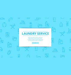 laundry service household service washing vector image