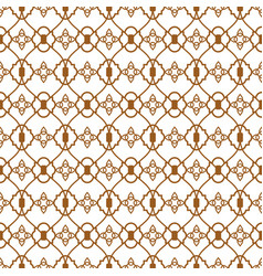 ligature pattern gold seamless line style vector image