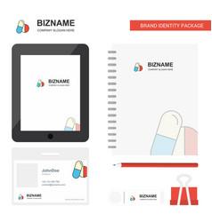 medicine business logo tab app diary pvc employee vector image
