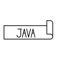 Monochrome silhouette label text of java vector