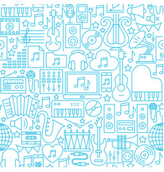 music white line seamless pattern vector image
