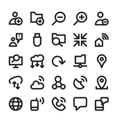 Network and communication line icons 13 vector