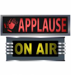 On air and applause sign vector