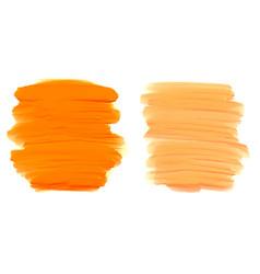 orange shape watercolor brush stroke texture vector image