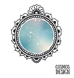 Ornamental Boho Style Frame with space inside vector image