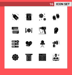 Pack 16 creative solid glyphs message chat vector
