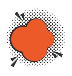 pop art speech bubble dialog cloud halftone style vector image