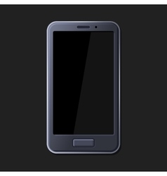 Realistic Smart Phone on Dark Background vector image vector image