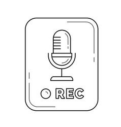 record button line icon vector image