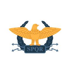Roman gold eagle of ancient military legion vector