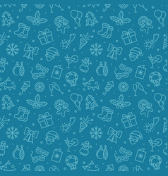 seamless background with christmas and new year vector image