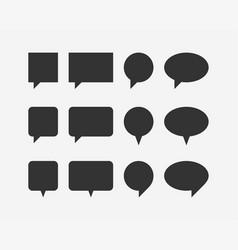 set talk bubbles speech blank empty bubble icon vector image