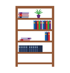shelves with books vector image