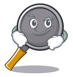 Smirking frying pan cartoon character vector