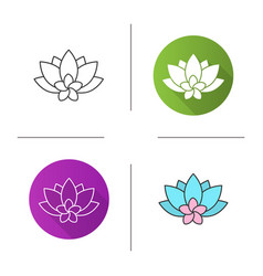 Spa salon flowers icon vector