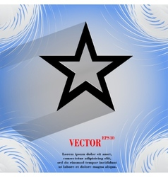 star web icon on a flat geometric abstract vector image